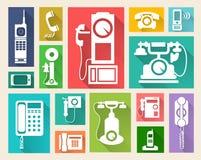 Retro telephone web icon Stock Photo