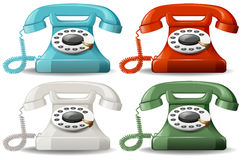 Retro telephones Royalty Free Stock Images