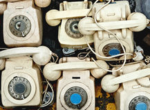 Retro telephones Stock Images