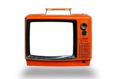 Retro, a televisão velha Foto de Stock Royalty Free
