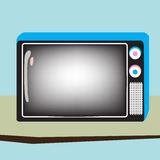 Retro televisie Stock Illustratie