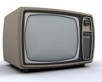 Retro televisie Royalty-vrije Stock Foto's