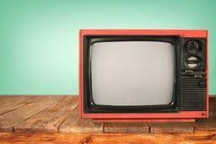 Retro Televisie royalty-vrije stock foto