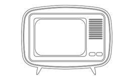 Retro televisiepictogram Stock Fotografie