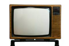 Retro Televisietoestel Royalty-vrije Stock Afbeeldingen