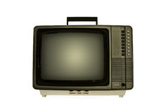Retro Television. Vintage Retro Television Isolated. Dating back to the early eighties, and still works Stock Photography