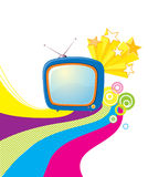 Retro television. Royalty Free Stock Photography