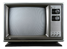 Retro Television. With knobs isolated over a white background Stock Photo