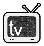 Retro television. Creative design of retro television Stock Photos