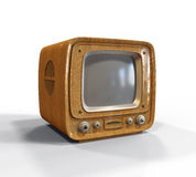 Retro television. On white background Stock Photography