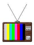 Retro television. Is a illustration of TV set isolated with tuning colours vector illustration