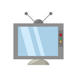 Retro television antenna monitor. Vector illustration eps 10 Stock Photography
