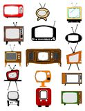 Retro television collection Stock Photos