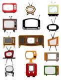 Retro television collection Stock Photos