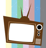 Retro Television with Color Background Royalty Free Stock Photography