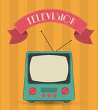 Retro television design Royalty Free Stock Image
