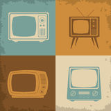 Retro television design Royalty Free Stock Images