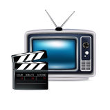 Retro television and director's clipboard Royalty Free Stock Photo