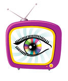 Retro television and eye royalty free stock photos