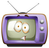 Retro television with face Stock Photos