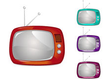Retro Television (Global Swatches Included) Royalty Free Stock Images