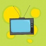 Retro Television on Green Stock Photo