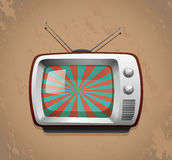 Retro television on grunge background Stock Photo