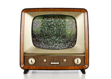 Retro television with no signal Royalty Free Stock Images