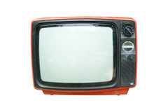 Retro television. Old vintage TV isolate on white, retro technology Royalty Free Stock Image