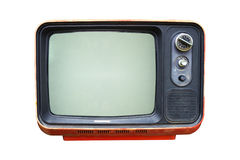 Retro television. Old vintage TV isolate on white, retro technology Stock Image