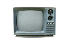 Retro television. Old vintage TV isolate on white, retro technology Royalty Free Stock Photos