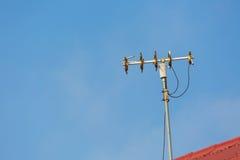 Retro television receiver antenna Royalty Free Stock Photos