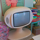 Retro television. 1970s retro television seen in a shop in Truro Royalty Free Stock Images