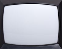 Retro television screen. Retro television equipment blank display screen Royalty Free Stock Photos