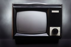 Retro television screen. Retro television equipment blank display screen Stock Image