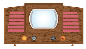 Retro television set. Stock Image
