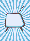 Retro television set Royalty Free Stock Image