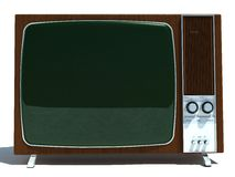 Retro Television Set. An illustration of a retro television set, isolated on a white background Stock Image