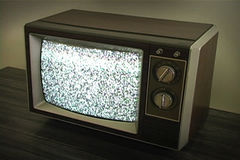 Retro Television with Static Stock Photography