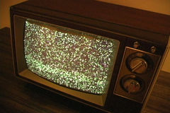 Retro Television with Static stock video
