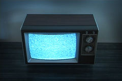 Retro Television with Static stock footage