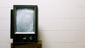 Retro Television & Static stock footage