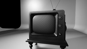 Retro Television in Studio Setting stock video footage