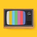 Retro Television TV Entertainment Media Icon Illustration Vector Stock Image