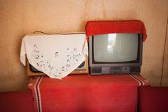 Retro television or tv. Eletronics from past Royalty Free Stock Photos