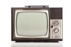 Retro television on white background Stock Photo
