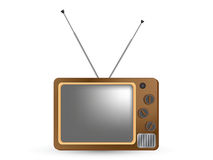 Retro Television on white background Stock Photo