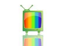 Retro televisione Immagini Stock