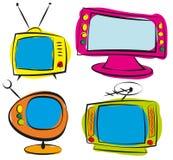 Retro televisione Immagine Stock Libera da Diritti