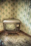 Retro televisione abbandonata Fotografia Stock Libera da Diritti